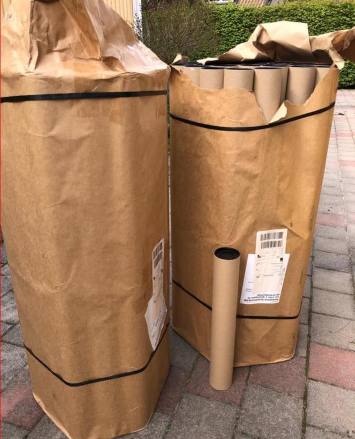 Papperstuber emballage
