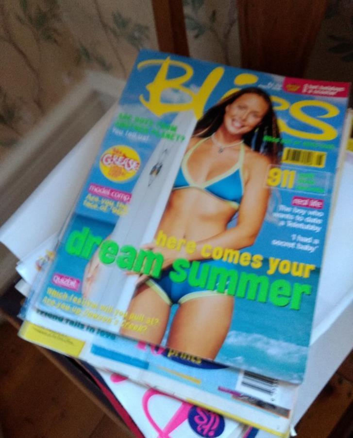 Skänkes tidningar från 90-talet
