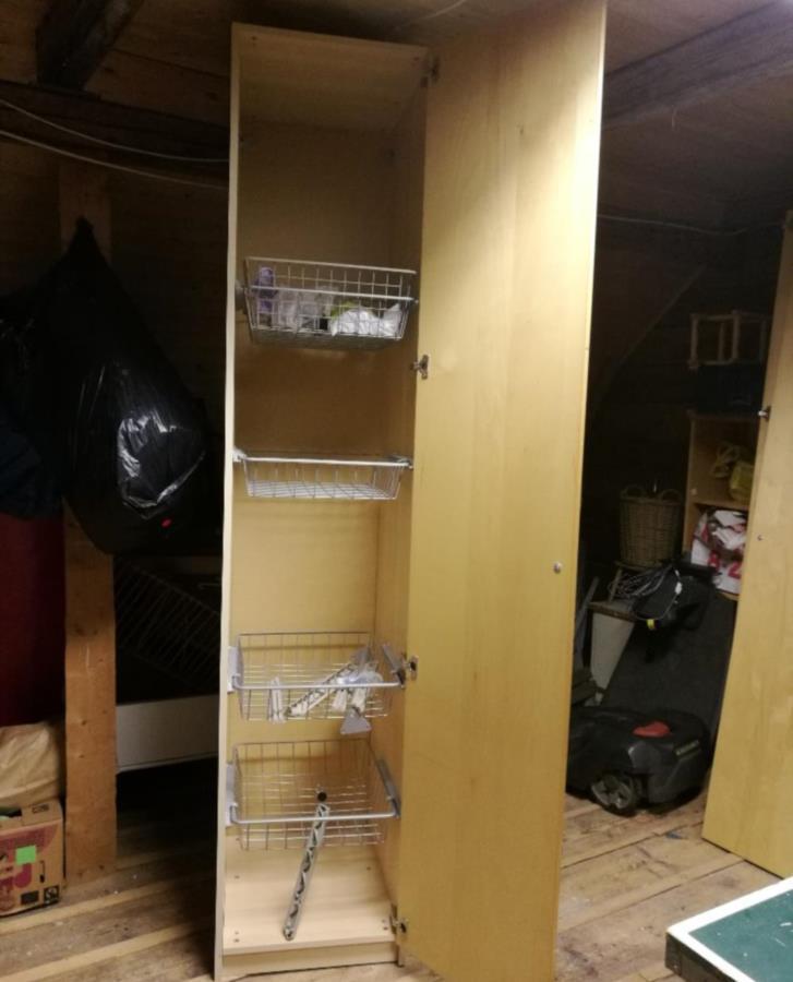 IKEA garderob och trådbackar