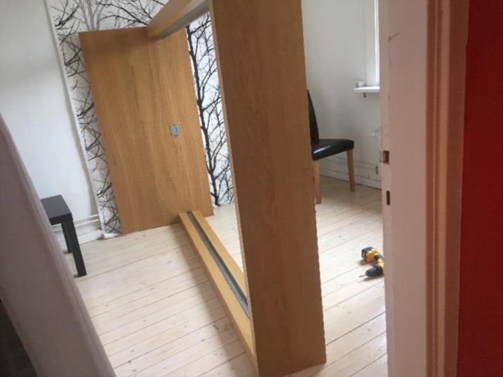Sänggavel IKEA Br 1,40, yta av ek