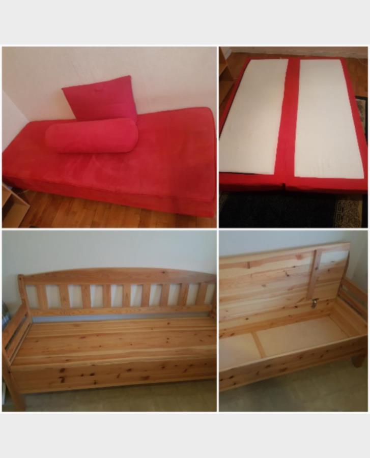 Uppfällbar soffa