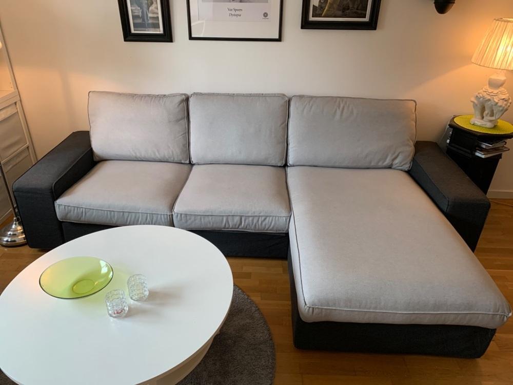 IKEA Kivik 3-sitssoffa med schäslong