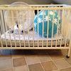 Spjälsäng + madrass Rislampor barnrum