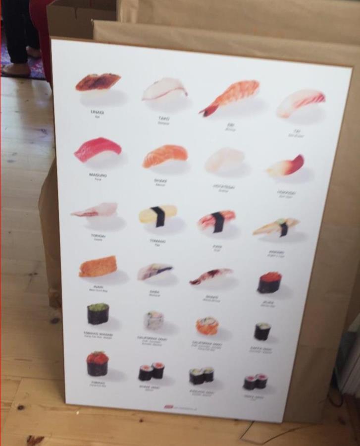 Bortskänkt: laminerade Sushi Bild