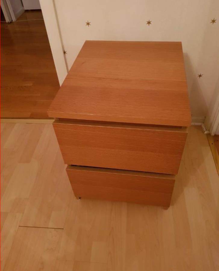 Sängbord Ikea Malm Ek