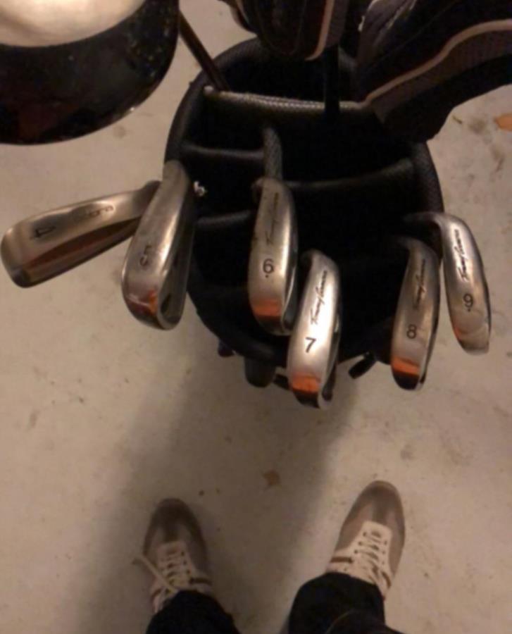 Golfbag med klubbor