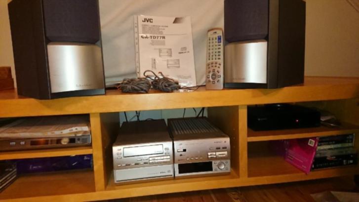 JVC ljudsystem CD + kassett + radio