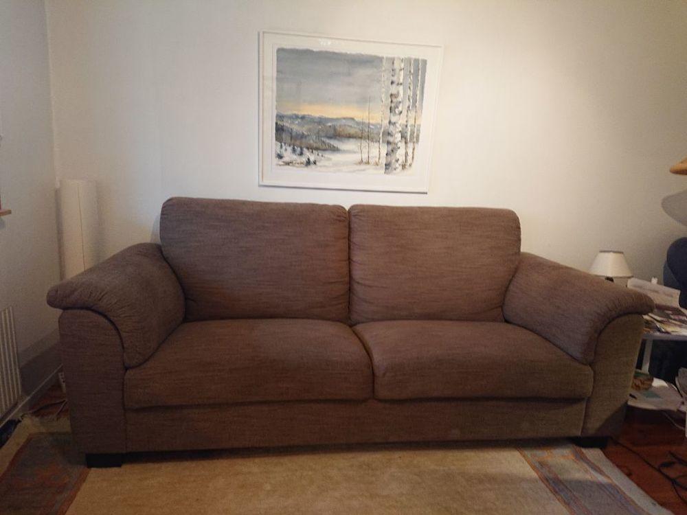 Soffa Ikea Tidafors hensta ljusbrun 3 sits