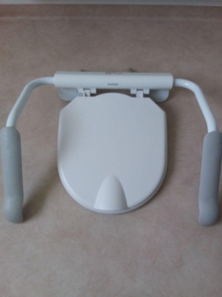 Toalettstol med armstöd