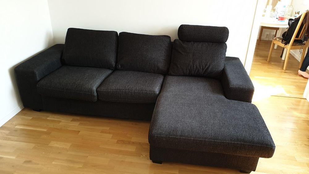 3-sitssoffa med divandel