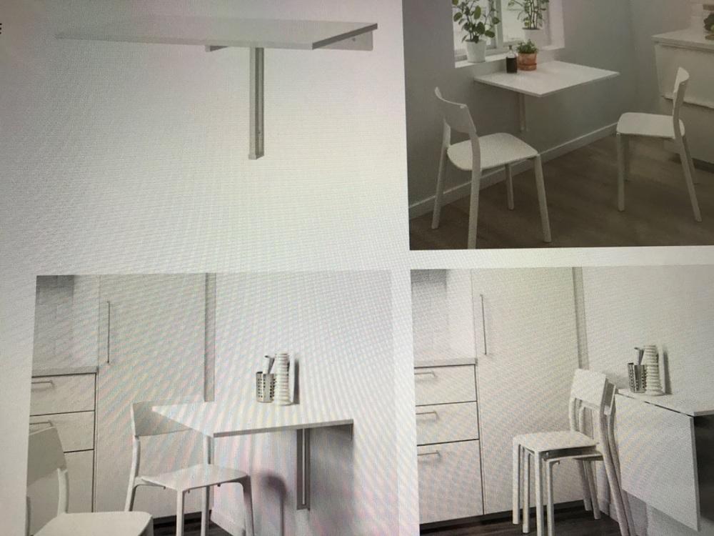 Väggmonterat klaffbord/skrivbord