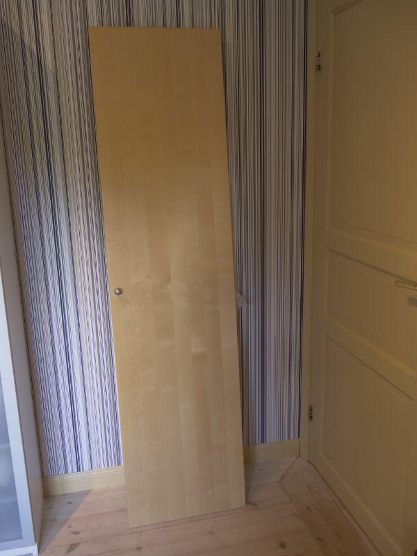 Garderobsdörrar björk Ikea Pax