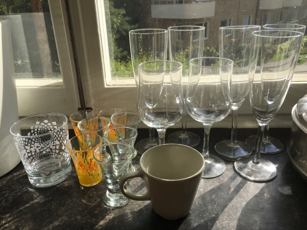 Diverse glas + form