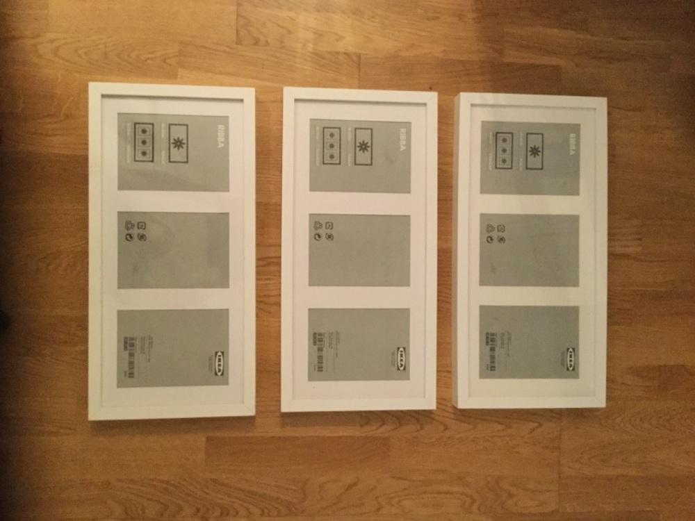3 st ramar från Ikea