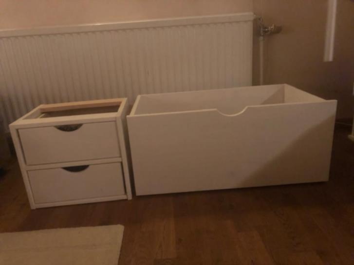 Sänglåda + lådhutsch