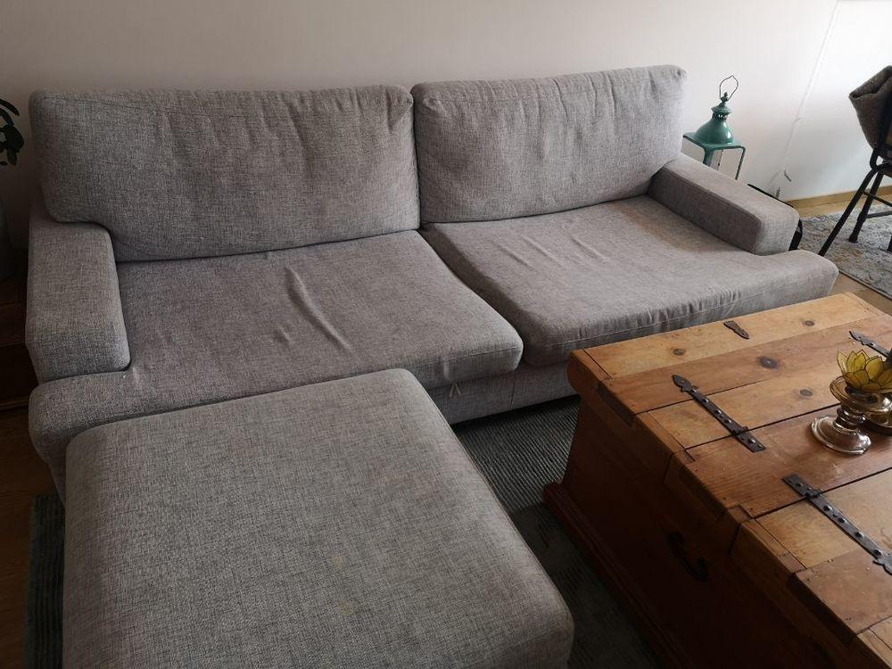Grå soffa bortskänkes