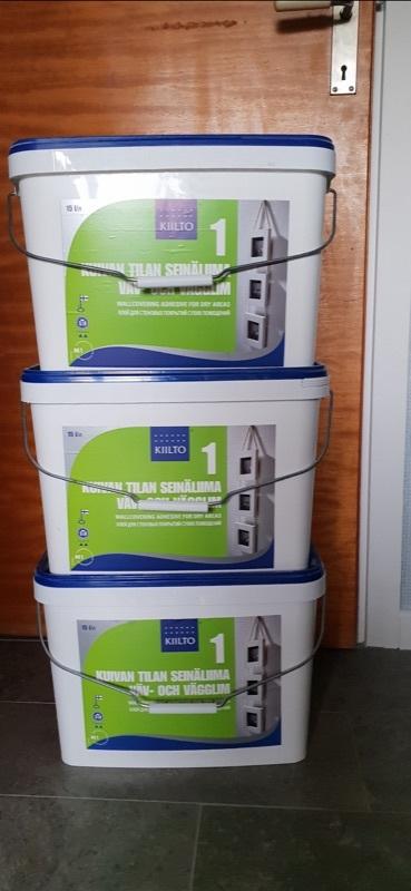Kiilto väv- och vägglim 3 st á 15 liter