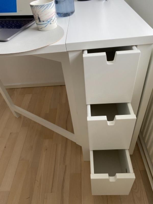 IKEA NORDEN extendable table 26-152cm. White