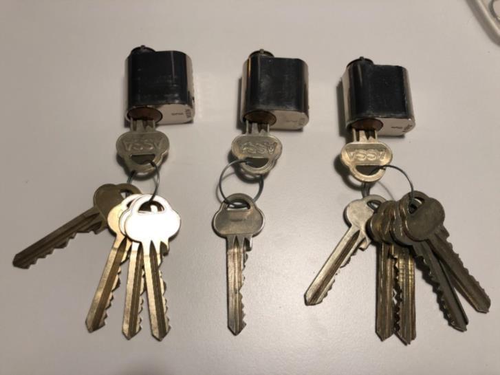 Nyckelhylsor med nycklar