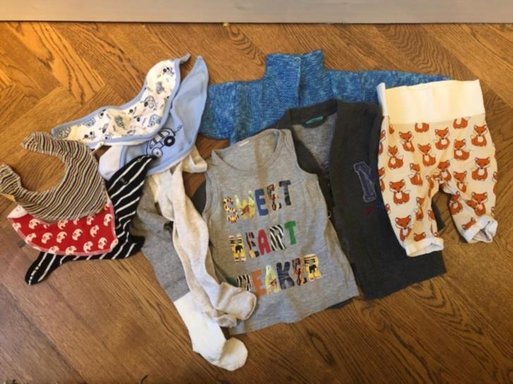 Barnkläder blandad storlek