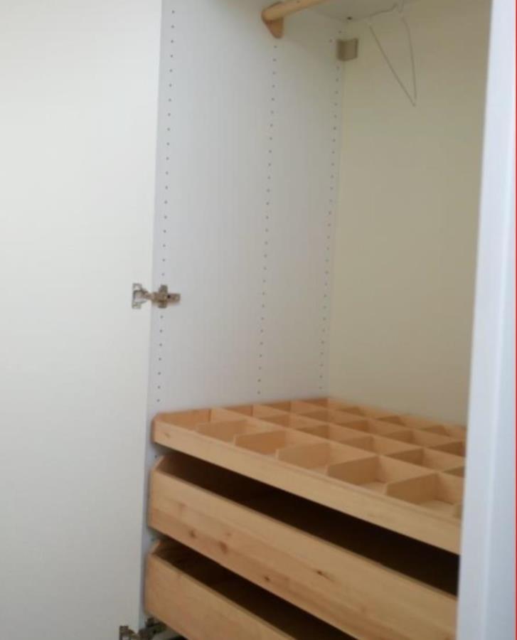 Fem utdragslådor  till IKEA garderob
