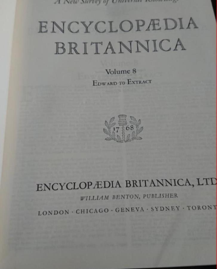 Encyclopedia britannica samling