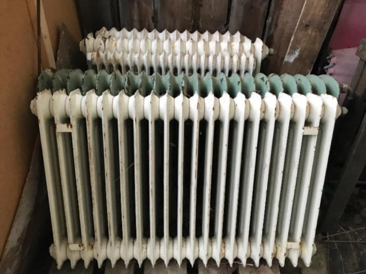 Vattenburna radiatorer