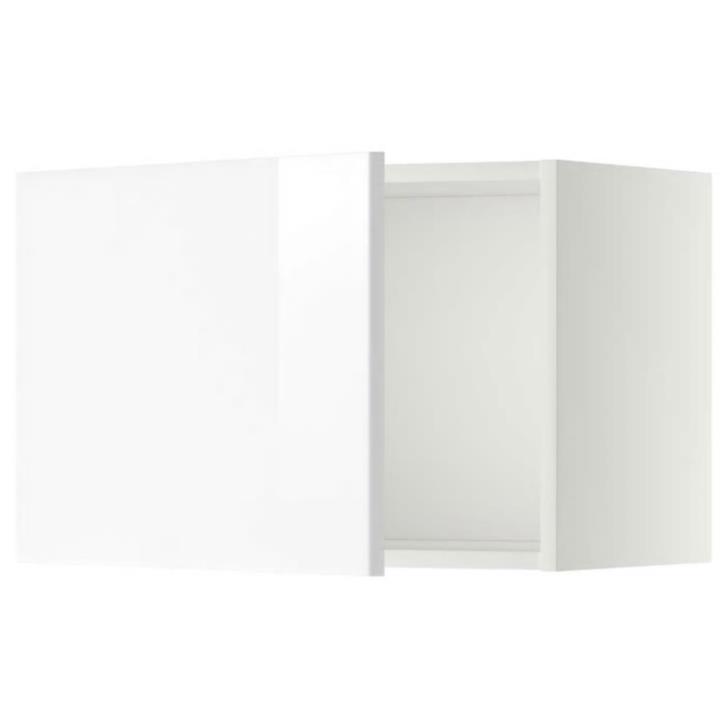 Väggskåp Metod Ikea med Ringhult lådfront vit högglans
