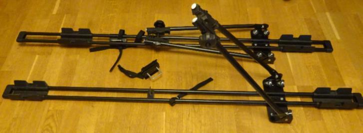 2 st cykelhållare för takräcke/lasthållare
